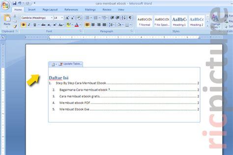 cara membuat halaman di word 2007 untuk makalah contoh daftar isi untuk makalah newhairstylesformen2014 com
