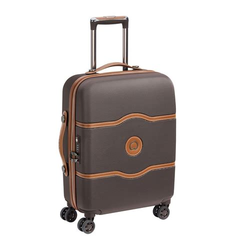 delsey cabin luggage delsey chatelet air 4 wheel spinner slim cabin suitcase 55cm
