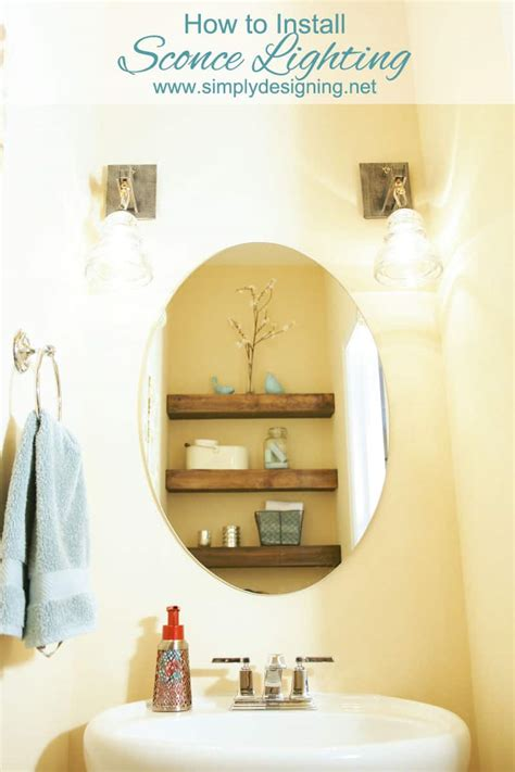 how to fit a bathroom light how to install sconce lighting