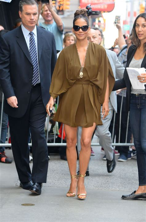 Halle Berry On The Set Of Morning America by Halle Berry At Morning America Studios In New York