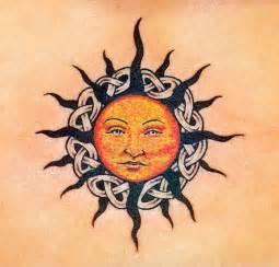 43 elegant sun tattoos designs