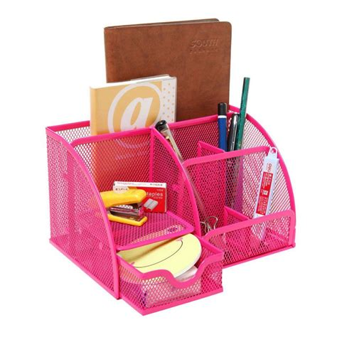 Pink Desk Accessories Pink Desk Organizer Pink Desk Organizers And Accessories Review 6 Compartment Desk Organizer