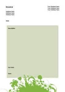 gardening invoice template free printable gardening invoice templates