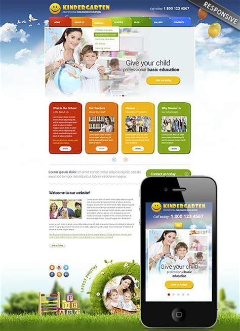 free preschool website templates kindergarten theme best website templates