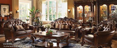 Kursi Tamu Jati Ukiran jual set kursi tamu mewah ukiran jati jepara mamad furniture jepara