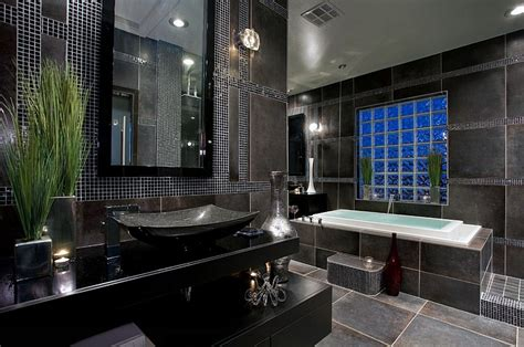 black bathroom tiles ideas 30 amazing ideas and pictures of antique bathroom tiles