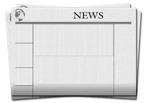 blank newspaper template blank front page newspaper template