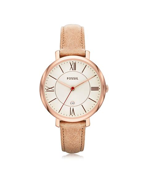 Fossil Pink fossil jacqueline sand leather s in pink lyst