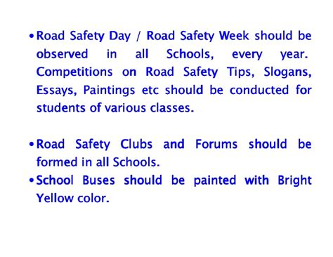 Importance Of Road Safety In India Essay by School Safety Slogans Just B Cause