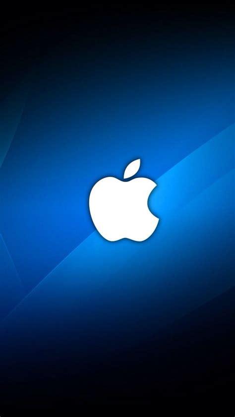 s logo blue and white white apple logo on blue background apple