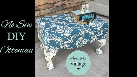 how to recover an ottoman without sewing how to upholster an ottoman without sewing featuring