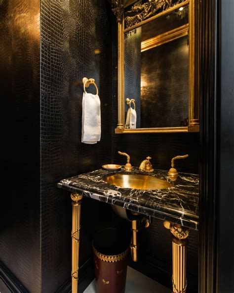 Luxury Powder Room Vanities Beverly Hills Traditional Powder Room Los Angeles