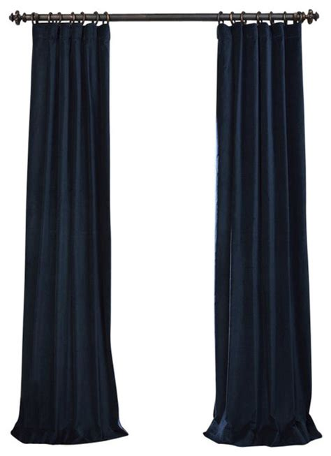 Navy Velvet Curtains Navy Vintage Cotton Velvet Curtain Contemporary Curtains By Half Price Drapes
