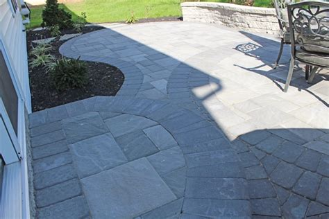 Pavers Vs Concrete Patio New Paver Patio And Seat Wall Lancaster Pa Tomlinson Bomberger