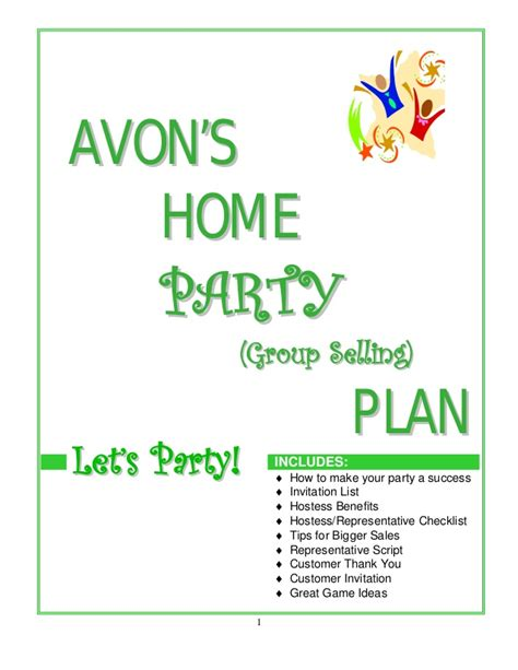 home party plan avon home party plan