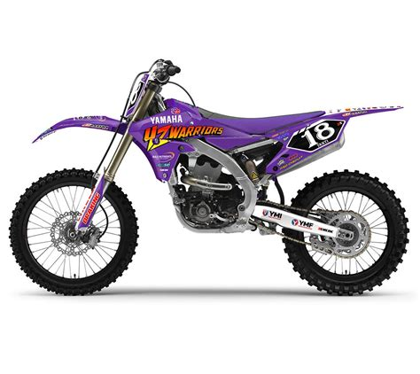 purple motocross yamaha graphics full semi custom motocross graphics