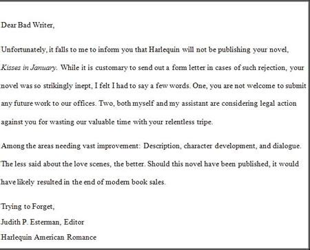 Rejection Letter Meaning Coolpics 10 Funniest Rejection Letters