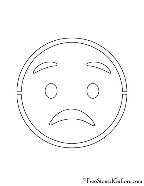 printable pumpkin stencils emoji emoji worried stencil free stencil gallery