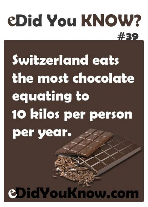 10 Interesting Facts About Chocolate by Did You Chocolade Quotes Spreuken