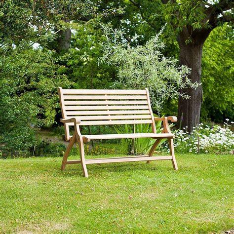 folding outdoor bench roble folding garden bench by out there exteriors notonthehighstreet com