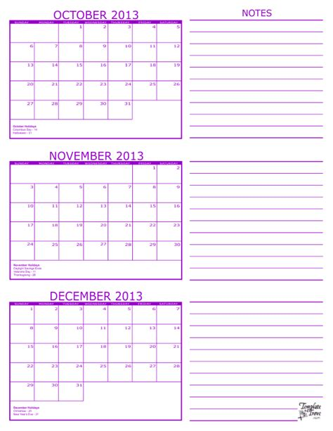 printable calendar october november december 2013 search results for 3 month january february march 2015