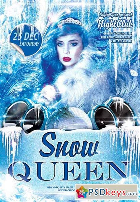 Snow Queen Party Flyer Psd Template Facebook Cover 187 Free Download Photoshop Vector Stock Snowy Flyer Template