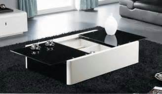 Modern black and white coffee table with storage aosta modern coffee