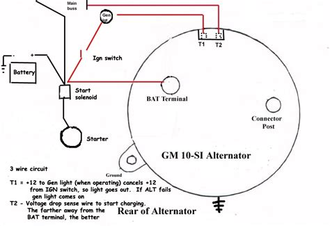 delco remy 3 wire alternator wiring diagram wiring