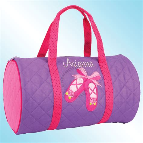 Personalized Quilted Duffle Bags by Quilted Duffle Bag Personalized And Embroidered Ballet