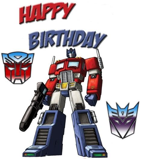 printable birthday cards transformers kids greeting cards
