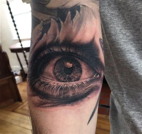 black and grey eye tattoo 29 inspiring eye tattoos on arm