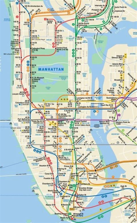 Image Gallery ny subway map manhattan