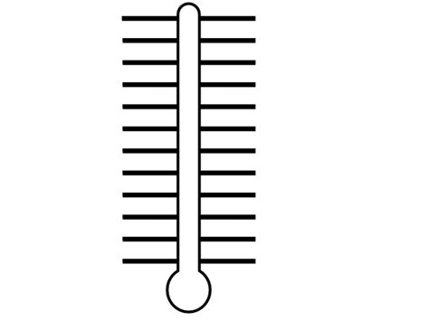 empty charity thermometer template clipart best
