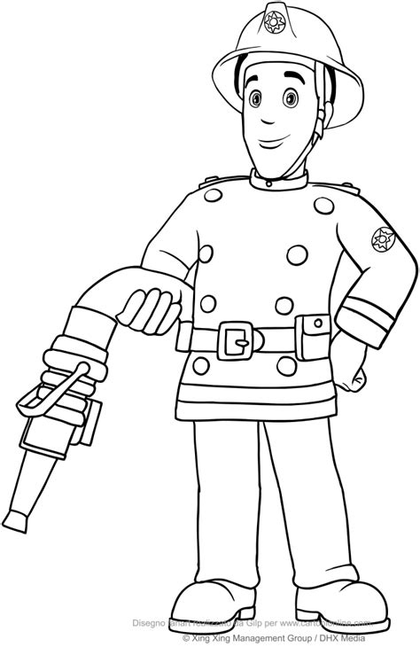 Fireman Sam Coloring Pages by Fireman Sam Coloring Pages Fireman Sam 12 Coloring Page