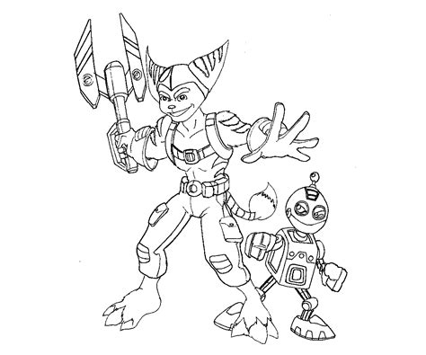 ratchet and clank coloring coloring pages