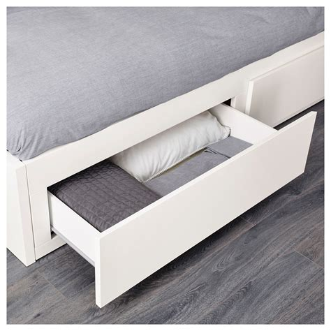 futon 80x200 flekke day bed frame with 2 drawers white 80x200 cm ikea