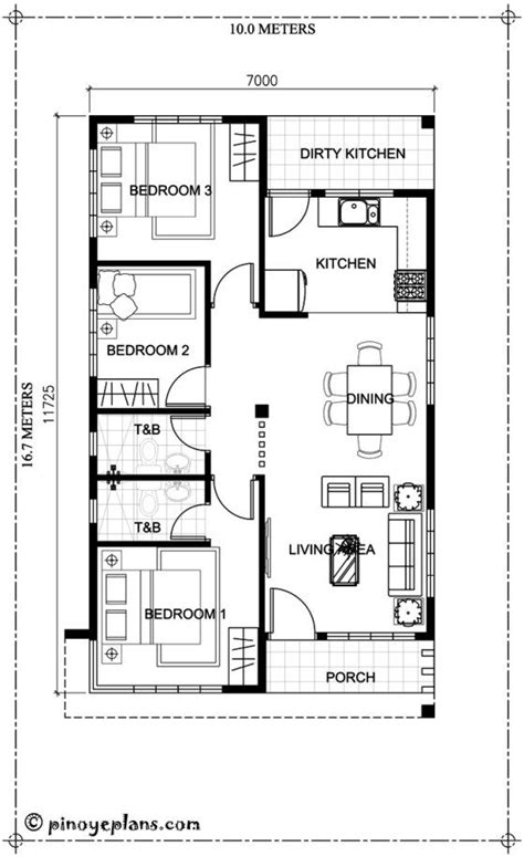 house plans by lot size this 3 bedroom house design has a total floor area of 82 square meters minimum lot size