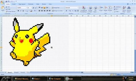 how to draw doodle using excel 30 geeky artworks created using microsoft excel hongkiat