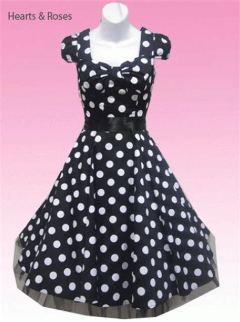 Black And White Swing Dress black and white big dot polka 50s retro swing dress