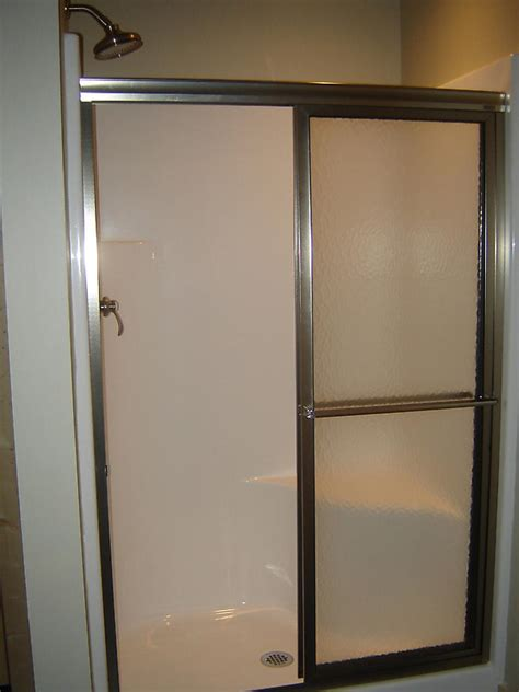 Installing Shower Doors How To Install A Shower Door On A Prefab Shower How Tos Diy