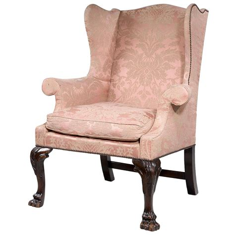 small wingback chair george ii period mahogany framed wing chair of small