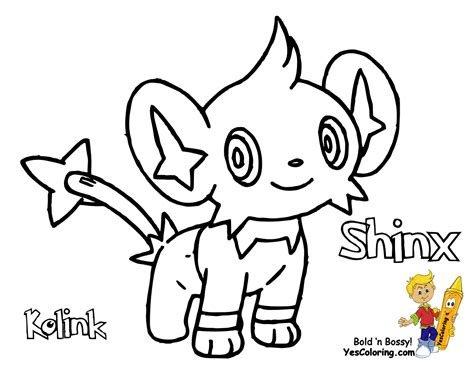 pokemon shinx colouring pages
