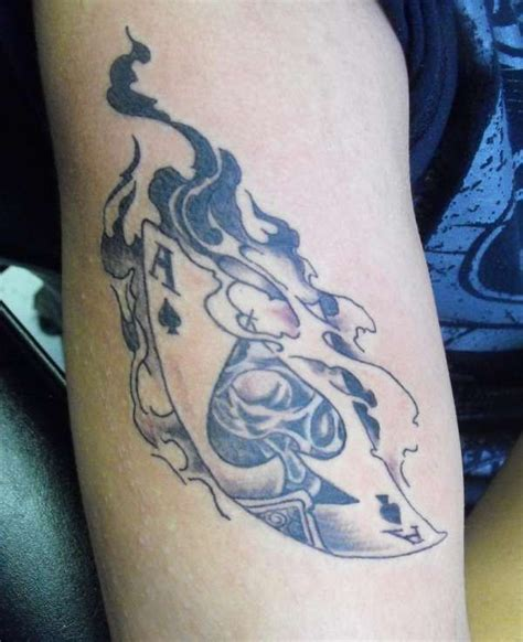 ace of spades designs tattoos bodyart