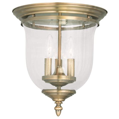 Livex Lighting by Livex Lighting 5024 01 Antique Brass Legacy 3 Light Flush