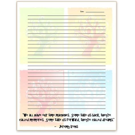 journal page template search results for printable diary writing paper