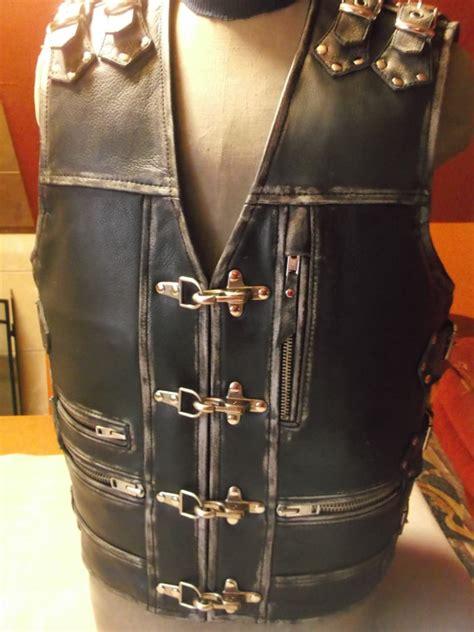 Handmade Leather Vest - leather vest handmade motorcycle vest genuine