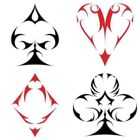 tribal spade tattoos 1000 images about take a chance on suits