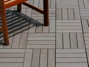 composite deck tiles resideck composite wood deck tiles for low maintenance decking