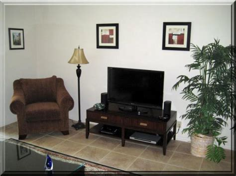 Living Room With 80 Inch Tv Mesquite Country Club Condo In Phase 1 For Rent In Palm
