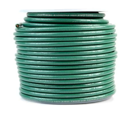 10 awg green ground wire 50 ft solid copper ul